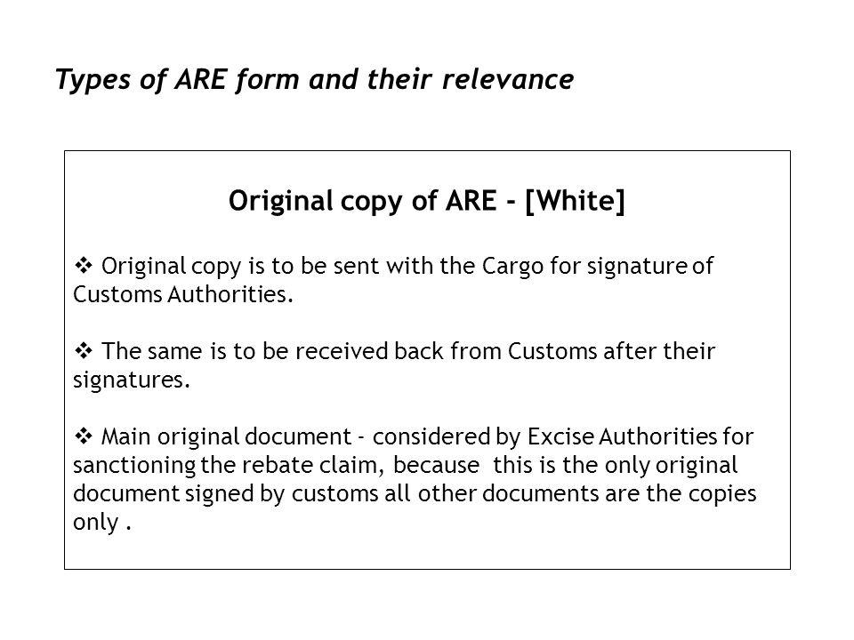 Original copy of ARE - [White]